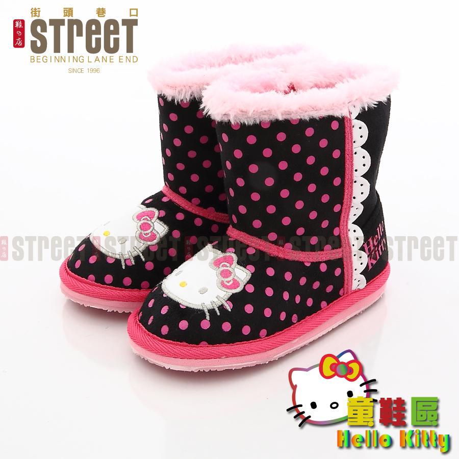 Hello Kitty 凱蒂貓 雪靴 保暖童靴鞋【街頭巷口】小P孩寶貝城 KT715141BK