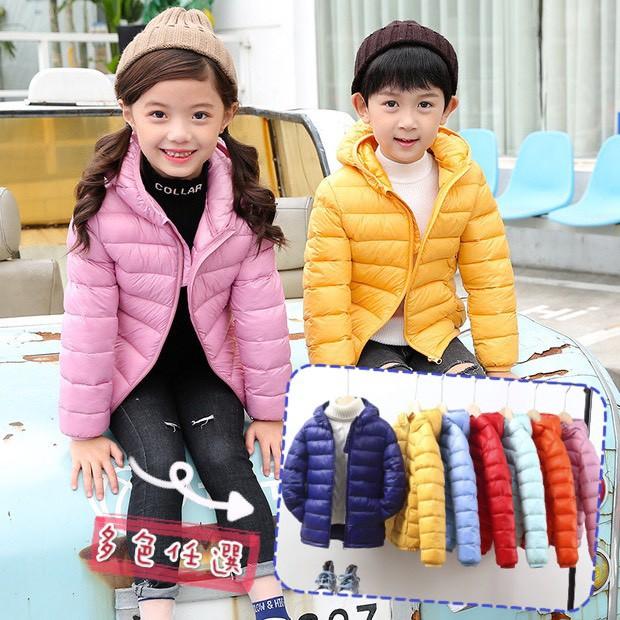 現貨年終出清破盤✨中大童[工廠直營]10色 兒童輕薄羽絨外套 風衣 特級輕羽絨 兒童連帽外套