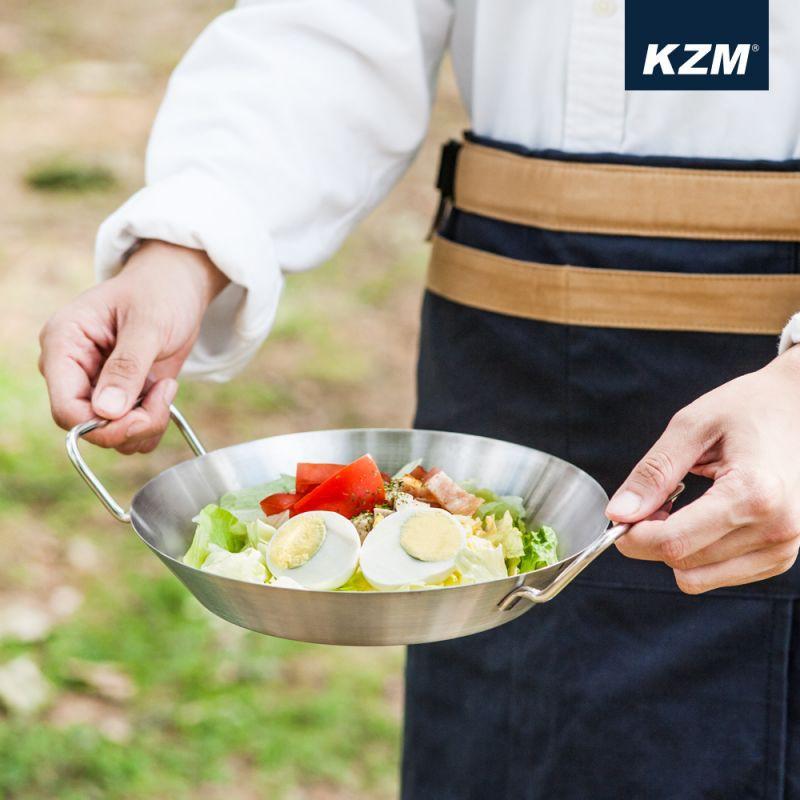 【松果戶外】KAZMI KZM 304不鏽鋼雙耳圓盤