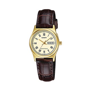 CASIO 手錶   LTP-V006GL-9B 女錶 指針錶 皮革錶帶 日/ 星期 防水 LTP-V006GL 臺中市