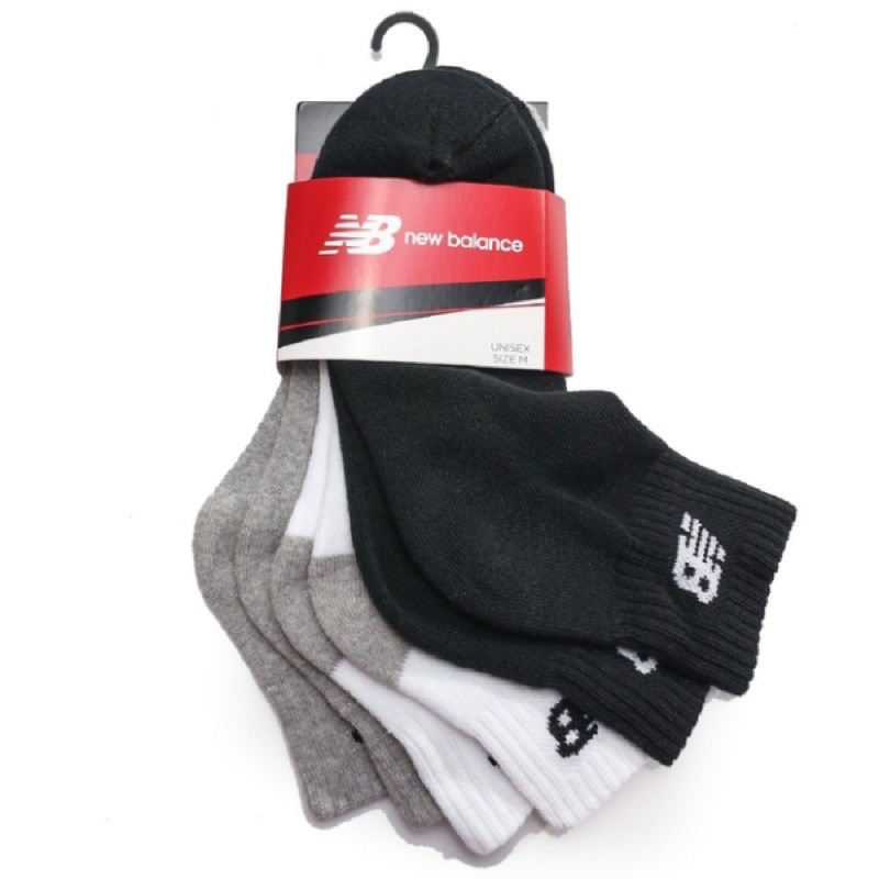NEW BLANCE 黑 灰 白 減壓 中筒襪