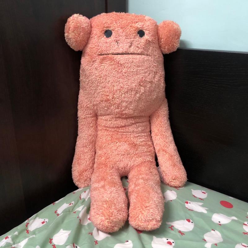 [現貨]craftholic 宇宙人 大抱枕-太陽橘小猴大抱枕 睡眠 玩偶 娃娃 毛絨
