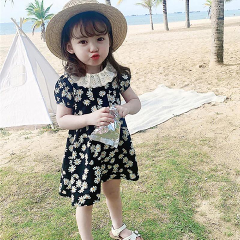 女童可愛碎花連衣裙 新款小雛菊夏裝寶寶公主裙 兒童裙子【IU貝嬰屋】