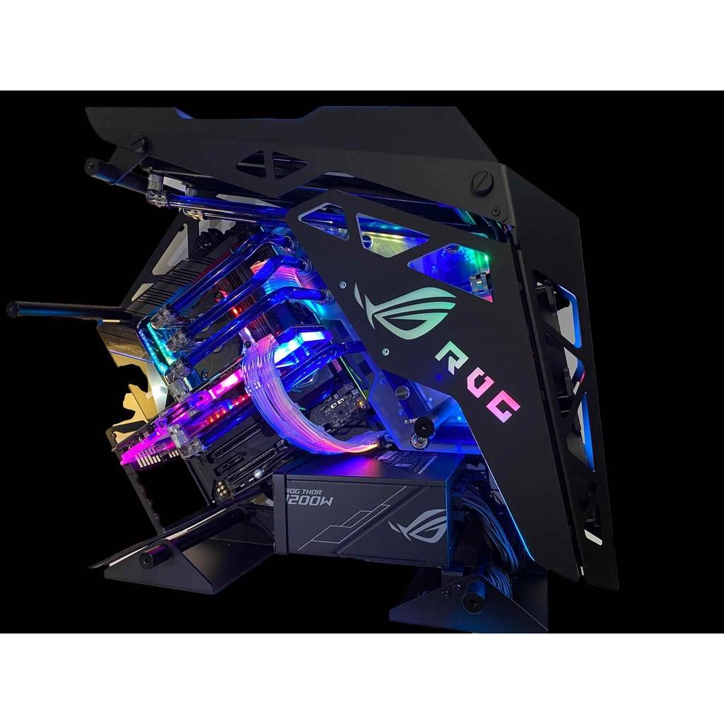 【免運現貨】正品  熱銷rog全家桶AMD3900X/RTX3090 3080顯卡高配遊戲水冷主機組裝電腦
