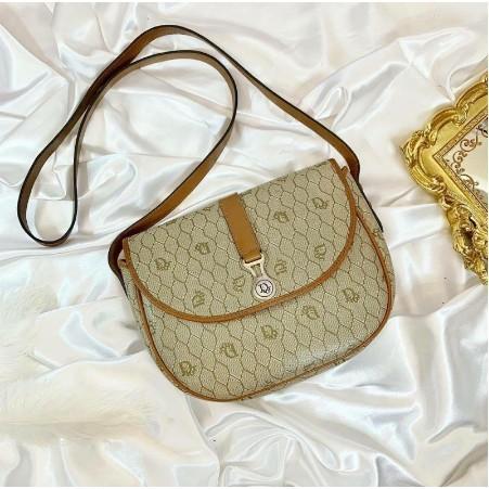 正品 Christian Dior vintage monogram handbag Dior 經典logo 斜背包