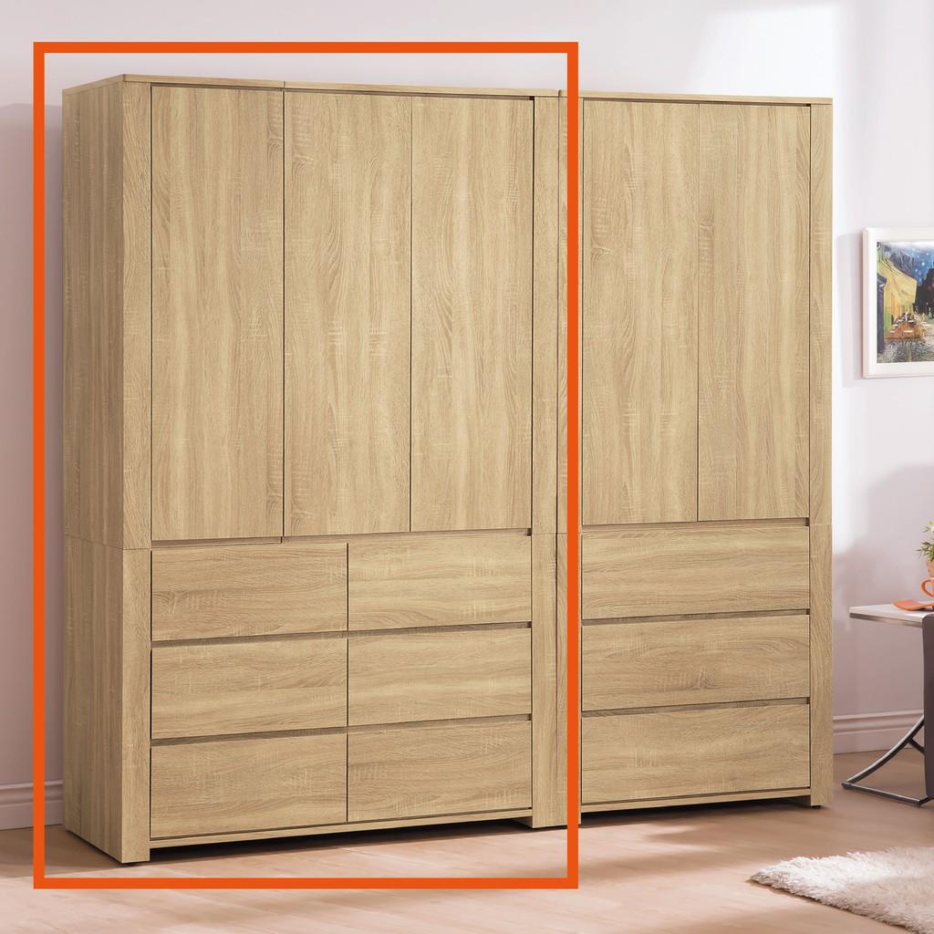 【120cm收納衣櫃-B117-02】木心板 推門滑門開門 衣服收納 免組裝【金滿屋】