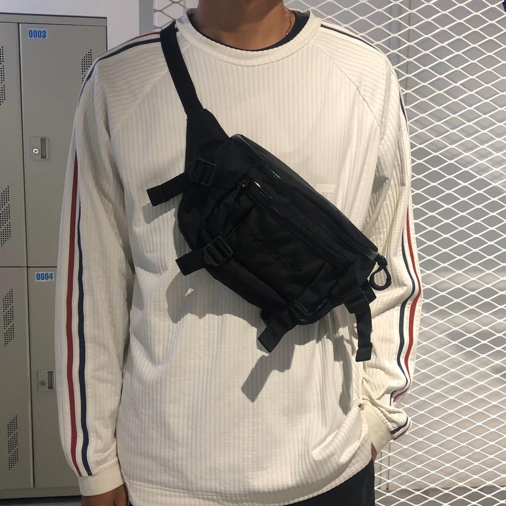 【R-Man】 Adidas 腰包 ADVENTURE 多夾層 多功能 側背包 GD5013