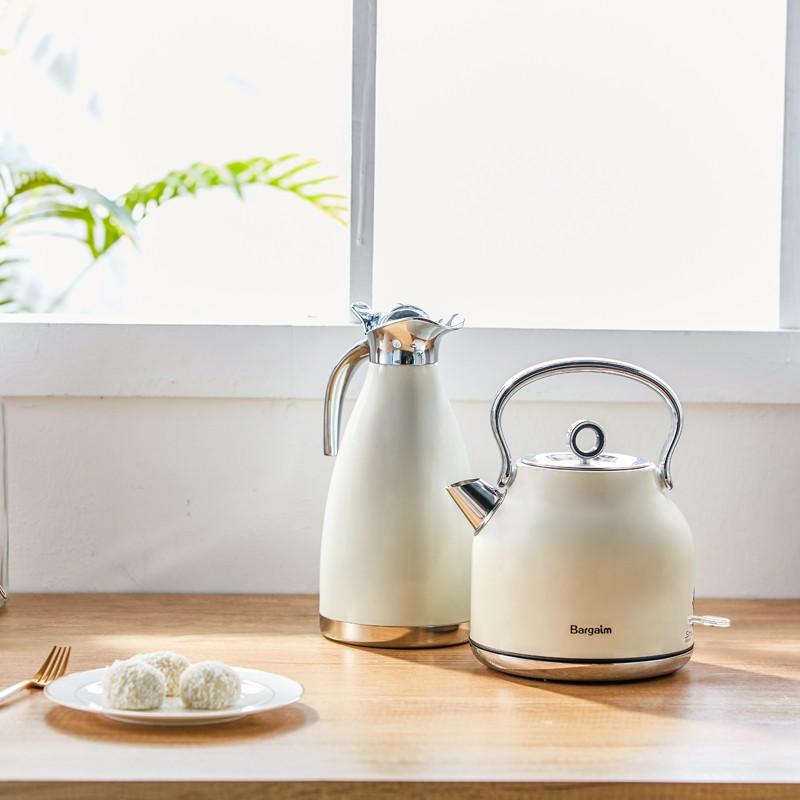 【新品 現貨】Bargaim燒水壺 全自動家用304不銹鋼電熱水壺大容量煮水壺自動斷電