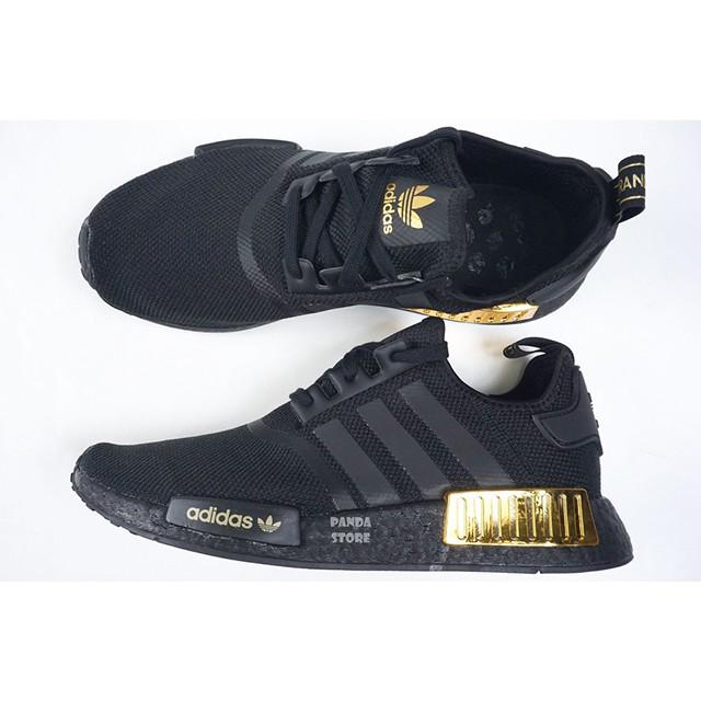 adidas Originals NMD R1 黑 金 復古 休閒 慢跑 H67844 男女鞋