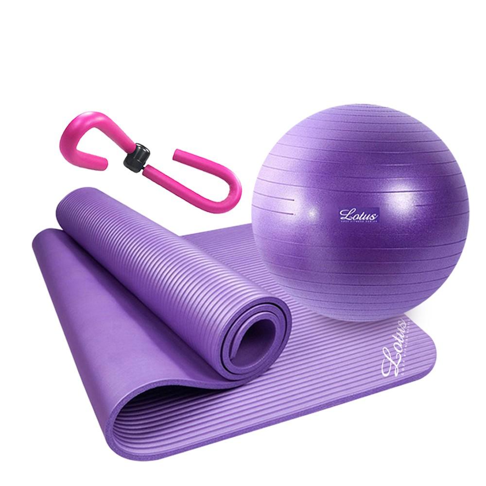 【LOTUS】瑜珈系列-超值三件組 瘦腿神器+瑜珈墊+瑜珈球