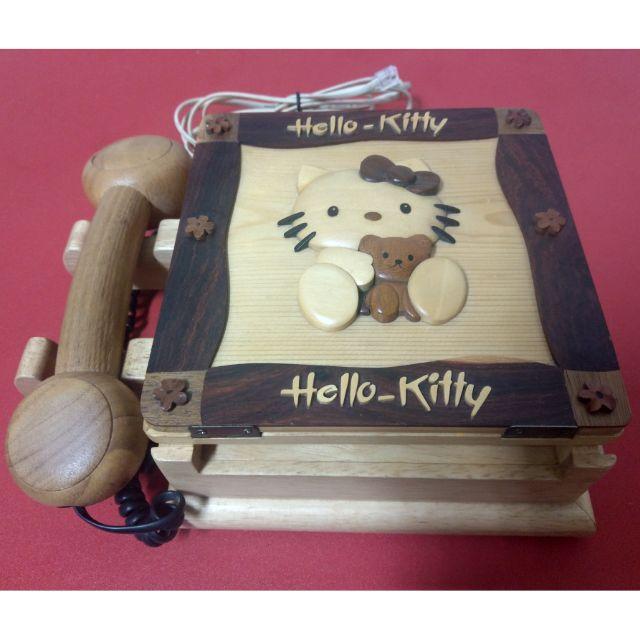 Hello Kitty木製家用電話
