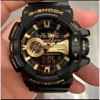 CASIO 卡西歐 G-SHOCK 經典黑金 金屬系雙顯 防水防震手錶 運動 機械手錶 GA-400GB-1A9 桃園市