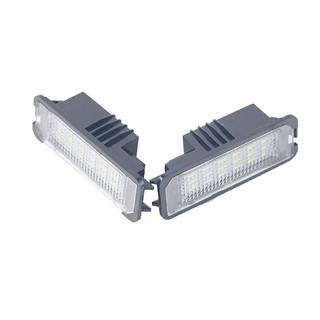 ♈△用於VW GOLF 4 5 6 7 Polo 6R 汽車牌照燈 白色LED車牌燈 12V汽車尾燈