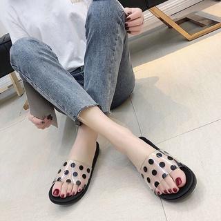 個性拖鞋女夏室外防滑洗澡韓國時尚簡約塑料軟底家居家用浴室涼拖花花女装大佬