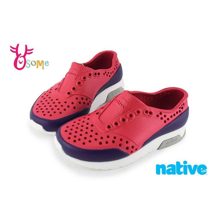 native LENNOX BLOCK 洞洞鞋 小雷諾系列 中小童 休閒鞋 K9477 紅色 OSOME奧森鞋業