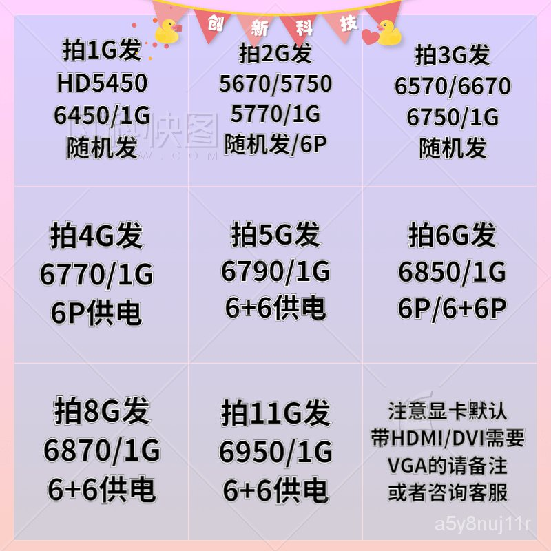 【顯示卡】拆機遊戲獨立顯卡AMD顯卡HD6670 HD6770 HD6850 HD6790 HD6950包