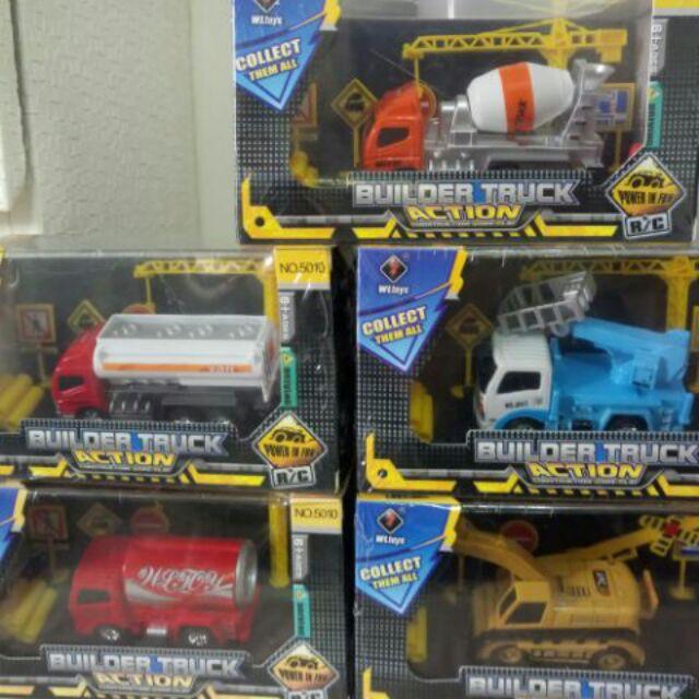 胖胖家族 現貨 玩具車 可口可樂玩具車 挖土機車 水泥車 BUILDER TRUCK 搖控汽車