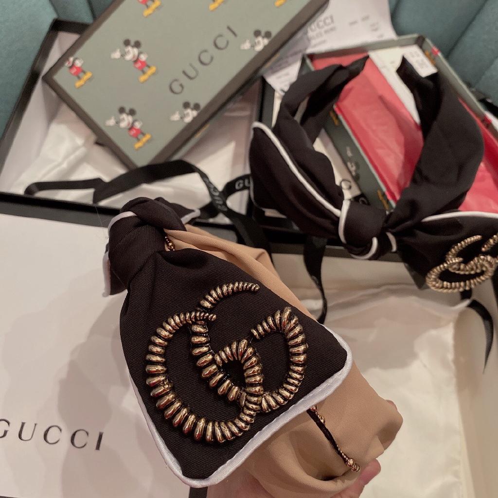 【代购免運】gucci 古馳 GUCCI 雙G  髮飾 飾品  髮箍 彈簧夾 金屬 logo 2020 新款 正品 網紅