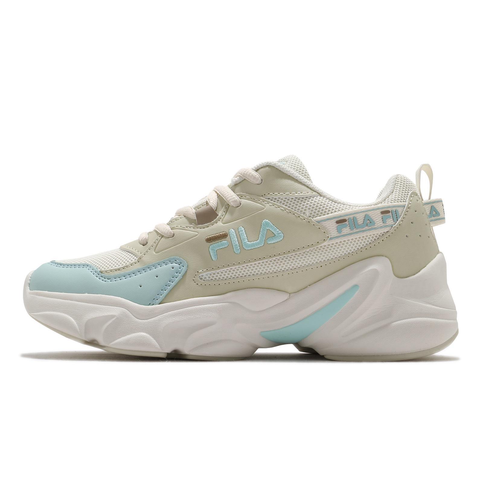 Fila 慢跑鞋 Hidden Tape 2 女鞋 米 綠 膠底 老爹鞋 運動鞋 【ACS】 5J329V-166