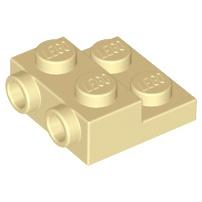 LEGO 樂高 米色 Plate 2x2x2/3 2 Studs 側邊附顆粒 99206