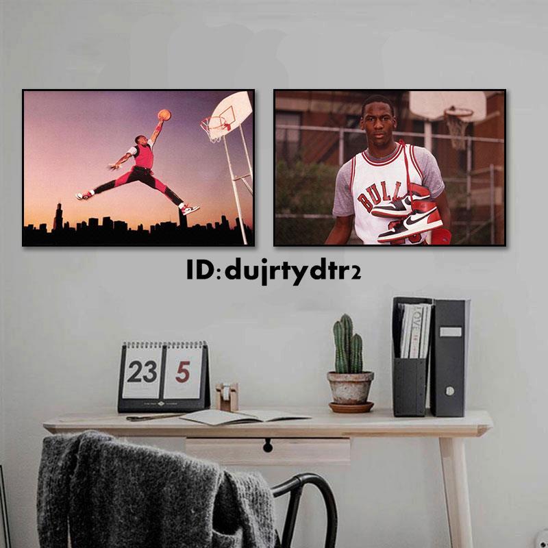 【居家装饰】喬丹最后一投裝飾畫nba公牛23號海報超大掛畫籃球Jordan明星壁畫