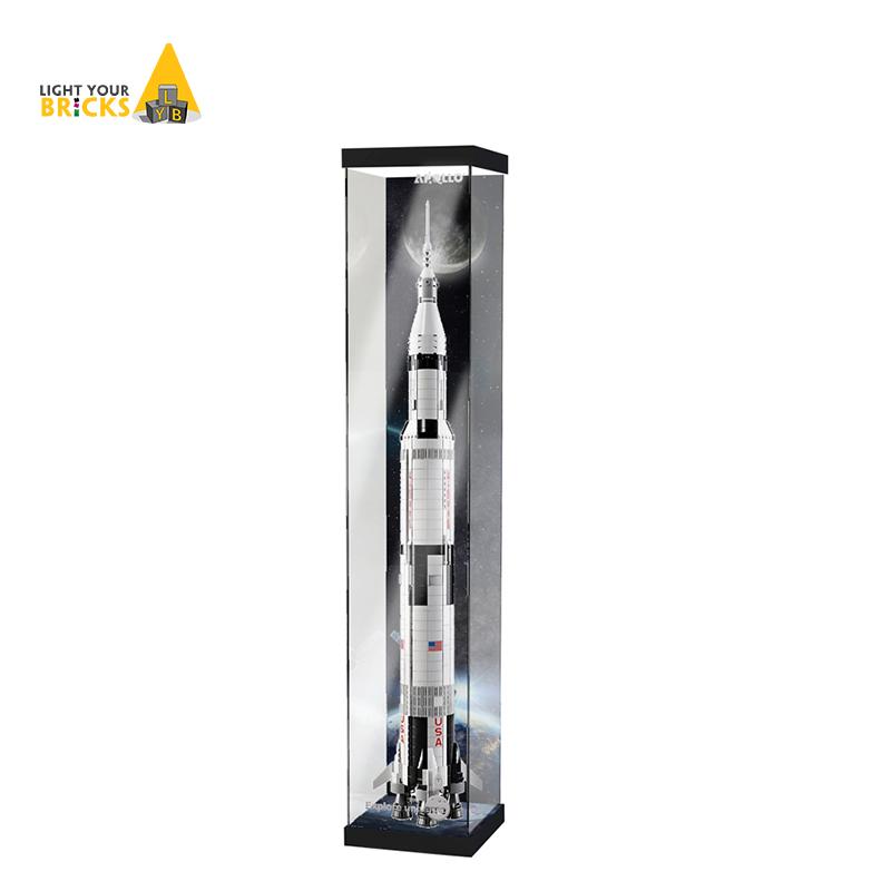 防塵收納盒適用樂高21309 92176阿波羅土星5號火箭亞克力展示盒