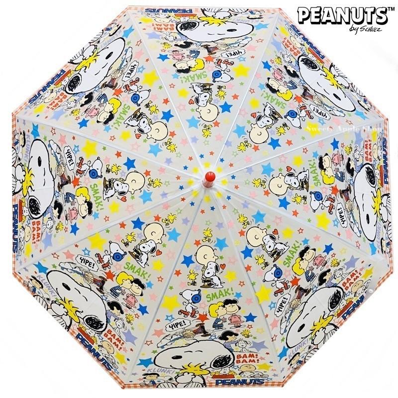 史努比【TW SAS日本限定】SNOOPY 史努比 英字星星滿版 兒童 直立雨傘 / 雨傘