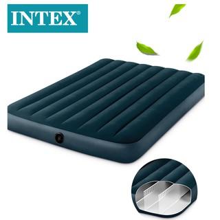 intex充氣床家用、戶外露營單雙人氣墊床加大加厚綠色自動沖氣折疊防水午休床墊(下單送修補片) 臺南市