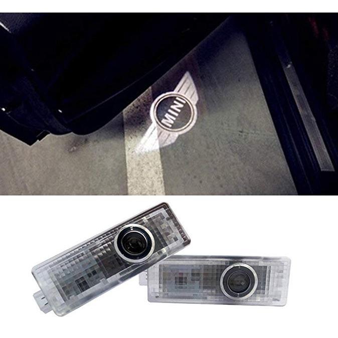 新款適用寶馬MINI迎賓燈專用迎賓燈 汽車LED車門燈鐳射燈投影燈