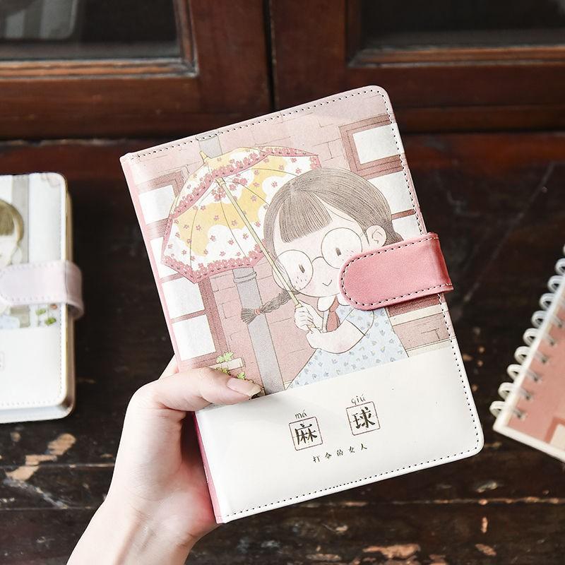 【免運】【辦公記事本】三年二班 麻球回歸1.0皮面手賬記事本手帳筆記本本子可愛韓版學生