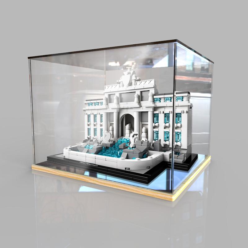 LEGO亞克力展示盒21020羅馬許願池積木模型收納防塵盒透明防塵罩