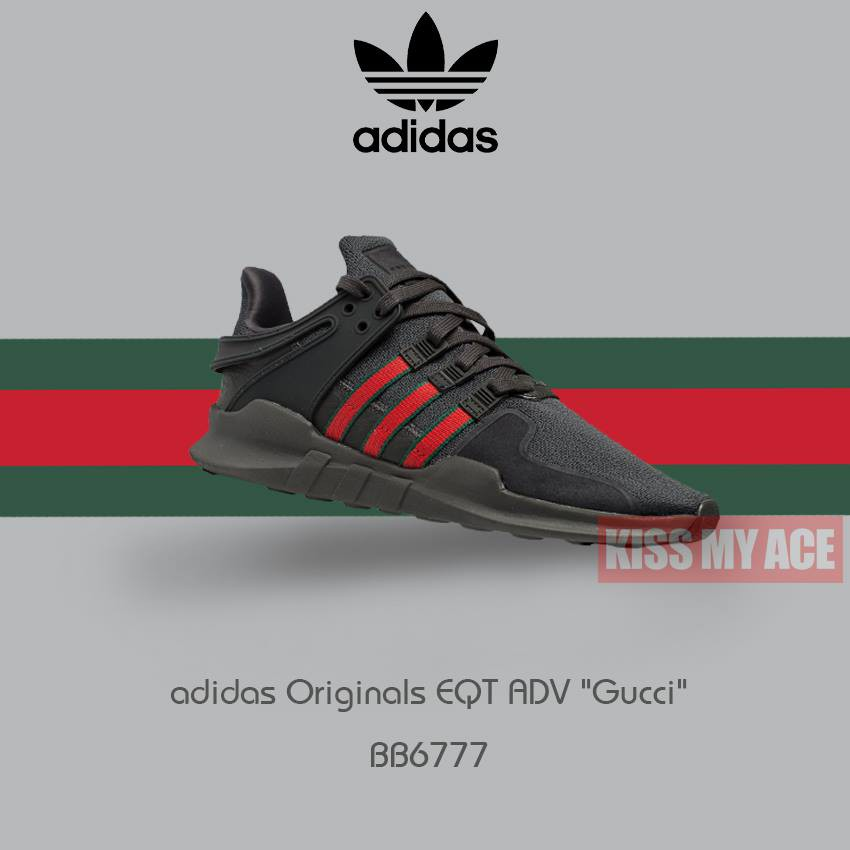 brand new 58453 f8b7e 【KISS MY ACE】adidas Originals EQT ADV BB6777 黑 紅 綠 男女 情侶 透氣