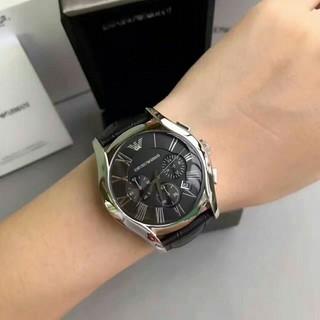 全新現貨正品 Armani亞曼尼AR男士腕錶潮流時尚三眼計時多功能防水日曆石英手錶男士鏤空曼尼手錶 AR1633 台北市