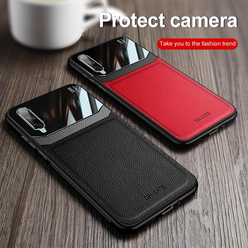 適用於 Samsung Galaxy A50S A30S A50 A70 A30 A20 A10 Case 超薄鏡面玻璃