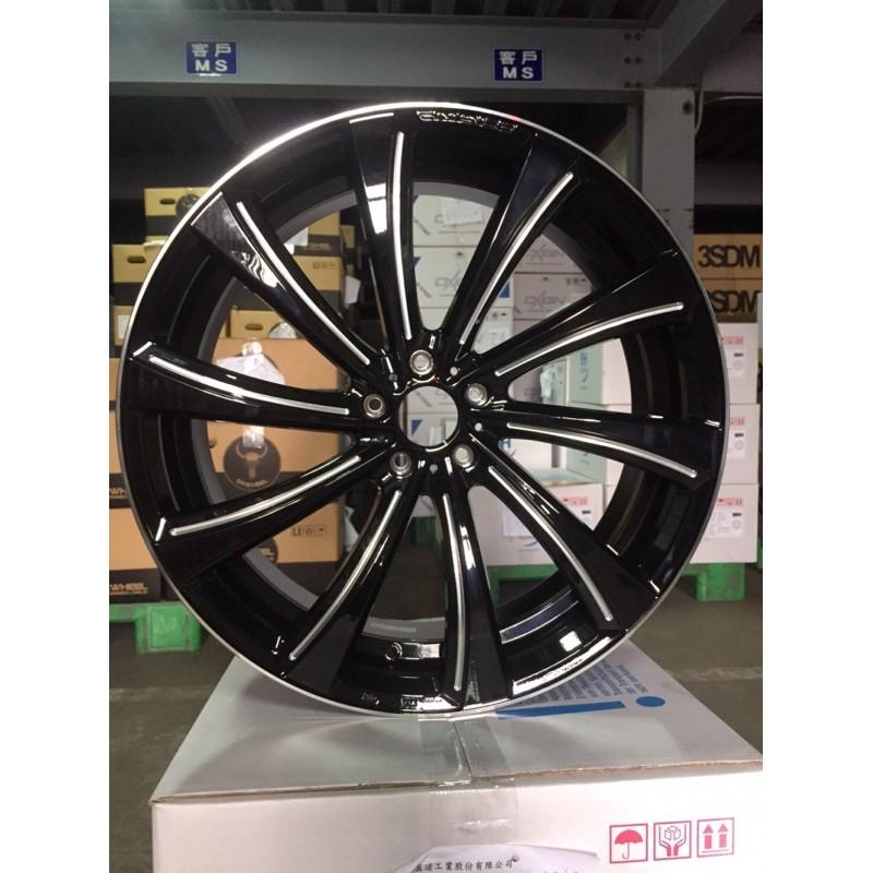 晟信自動車 放射狀亮黑底鋁圈 5/114.3 21吋 8.5J ET38(73.1)輪胎 輪框 報價後開賣場下標