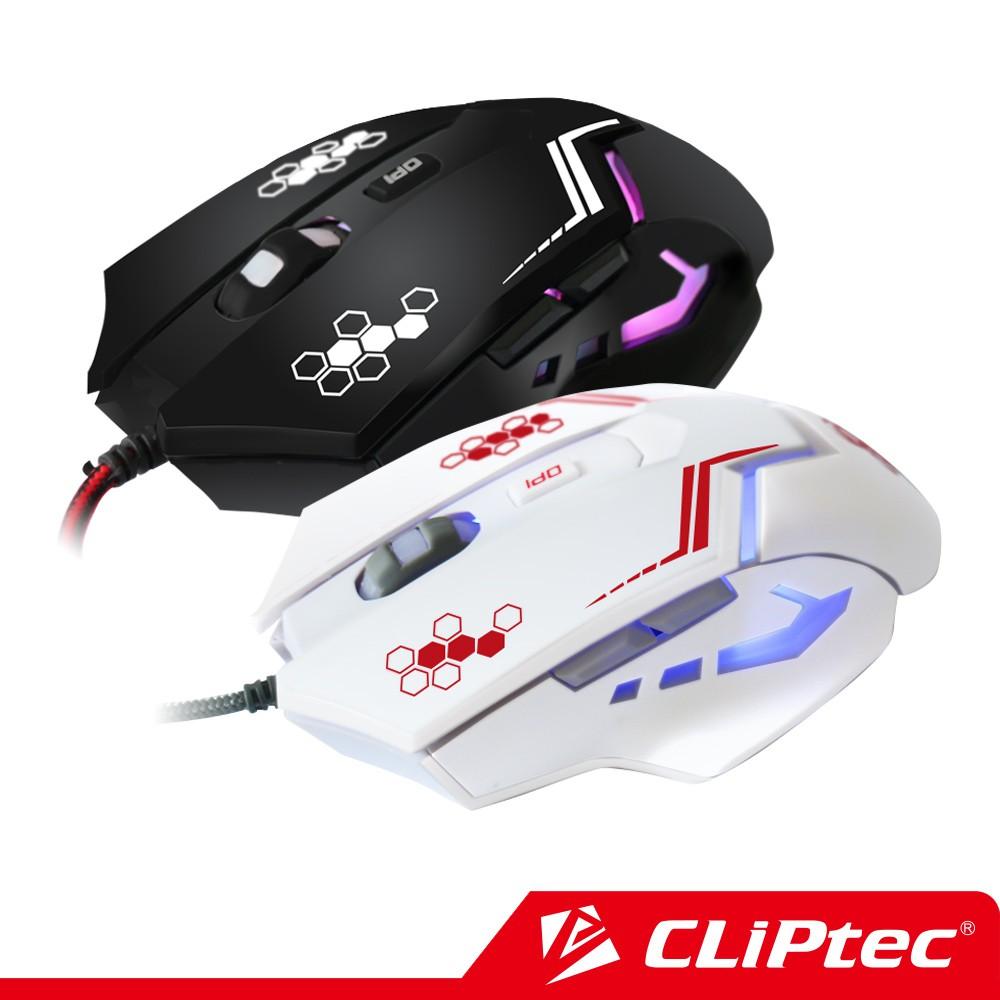 【CLiPtec】THERIUS 七色炫彩光效電競遊戲滑鼠 Gaming Mouse- DPI四檔調節精準靈敏定位追蹤