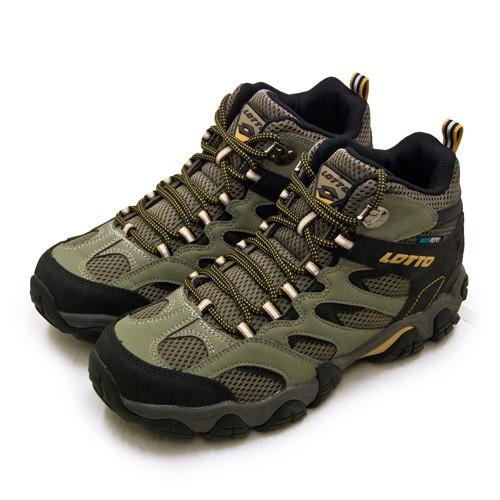 【LOTTO】專業多功能防水郊山戶外健行登山鞋 REX ULTRA系列 綠黑棕 2761 男