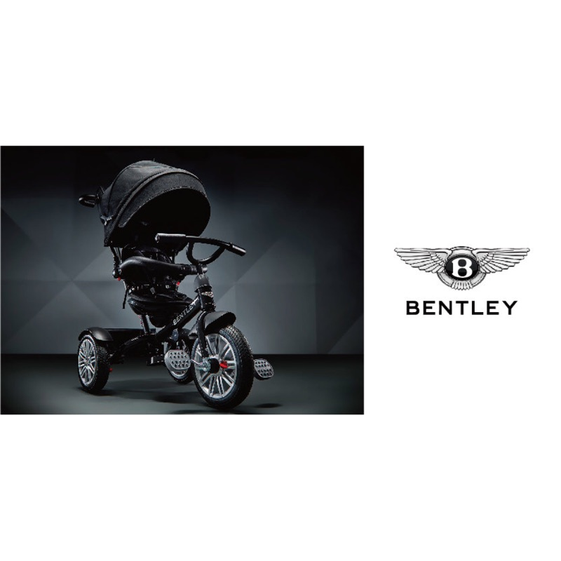賓利Bentley 6-in-1 Tricycle & Stroller 原廠授權多功能車 黑人范范寵兒魔人車 三輪車
