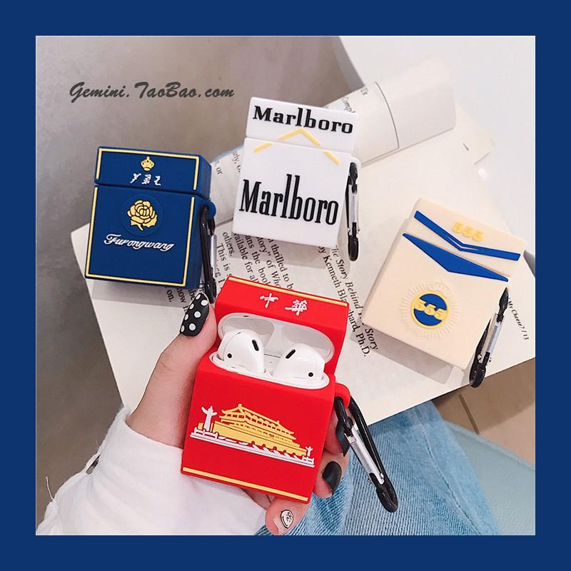 iPhone保護殼/AirPods保護套₪ஐ✌Pro創意個性煙盒airpods保護套蘋果airpods2代無線藍牙耳機