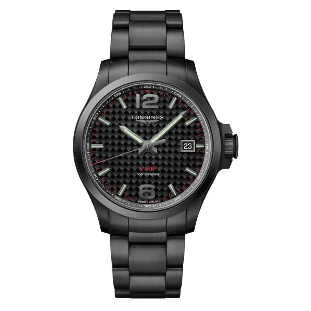 LONGINES 浪琴錶 L37262666 征服者系列 VHP超精準石英萬年曆腕錶/黑面 43mm