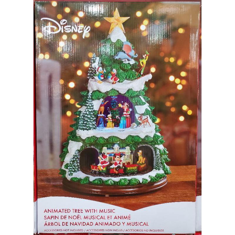 【小如的店】COSTCO好市多代購~DISNEY 17.5吋音樂火車聖誕樹(1入)