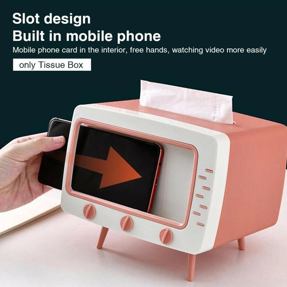Creative Cute TV Model Desktop Tissue Box/Multifunctional Mo
