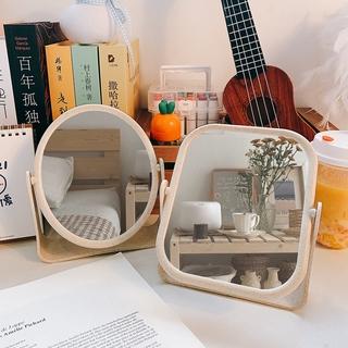【星奈斯】 韓風 ins 簡約 鏡子 台式化妝鏡 雙面 少女心 桌面 可立 宿舍 大號 學生 梳妝鏡 化妝鏡 歐式鏡