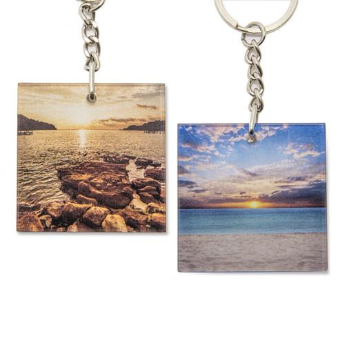 Gifthing 客製化鑰匙扣 來圖定制 雙面訂製 亞克力鑰匙圈 來圖定制 婚禮生日紀念日小物 方形鑰匙扣