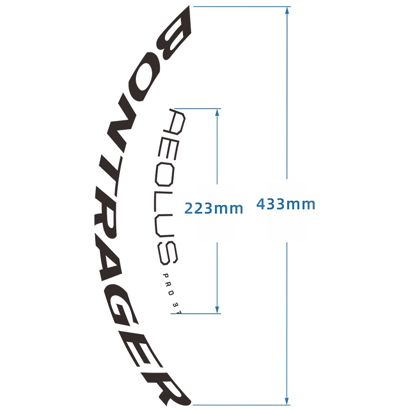 🔥棒槌哥Bontrager Aeolus Pro 37 TLR 公路碟剎輪組自行車貼紙車圈
