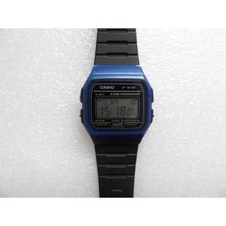 *二手*CASIO 卡西歐 復古方型簡約電子錶(F-91W)