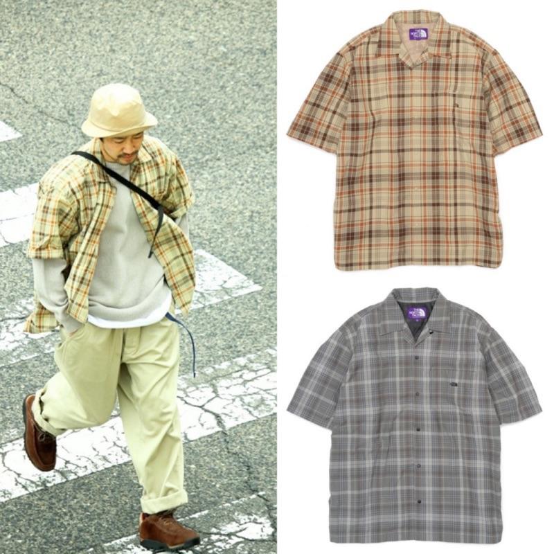 紫標 THE NORTH FACE MADRAS 格紋短袖襯衫 BEAMS 北臉 代購 SSZ CITY BOY