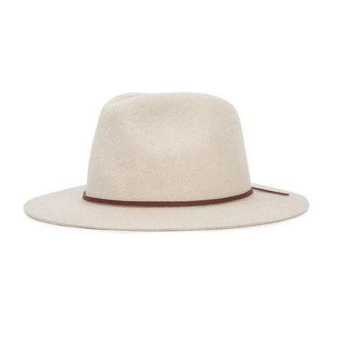 Brixton Wesley Fedora 紳士帽 (白)《Jimi Skate Shop》