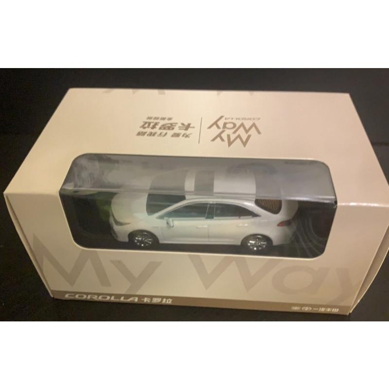 BuyCar模型車庫 1:43 1/43 Toyota Altis 12代 白色模型車