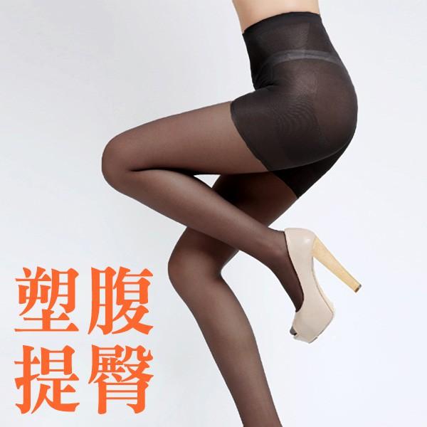 ViVi襪鋪【A101-6】塑身美臀美尻透明彈性褲襪(黑)